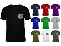 Mens Zebra Black White Pocket Shaped Print Top T-shirt NEW S-XXL
