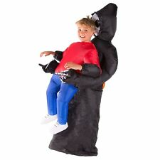 Kids Child Scary Inflatable Grim Reaper Costume Outfit Suit Halloween One Size
