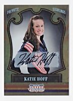 2011 Americana Private Signings #77 Katie Hoff Swimming Autograph 004/199