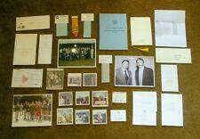 Rare SIGNED Xmas Ronald Reagan Governor Card, Guards Estate, 16 Photos, 30 Items
