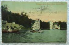 1914 POSTCARD CANTON OHIO TOBOGGAN SLIDE MEYERS LAKE #W2