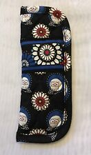 VERA BRADLEY NIGHT OWL SOFT QUILTED READING EYE GLASSES CASE EXCELLENT!