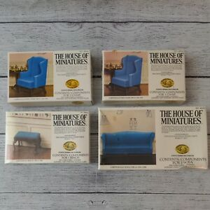 The House of Miniatures Lot of 4 Chippendale Chairs & Sofa Bench 3 NIB Sealed