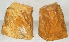 Vintage Pair Of Bookends Natural Sandstone Rock Polished