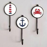 Nautical At Sea Boat Themed Coat Pegs Wall Jewellery Towel Hooks