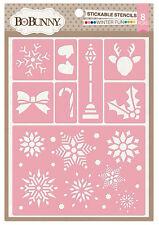 Bo Bunny Christmas Stickable Stencils Winter Fun BoBunny 2016 10736869