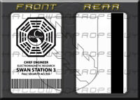 LOST Dharma Initiative SWAN Station PVC Access Card Prop Replica USA
