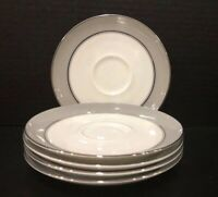 Vtg MAJESTIC By EASTERLING CHINA Set Of 5 Saucers -From Bavaria Germany -EUC!!