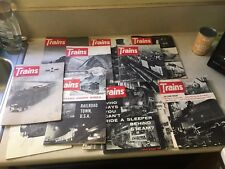 12 Vintage Issues TRAINS MAGAZINE // 1961 to 1966/ RAILROAD
