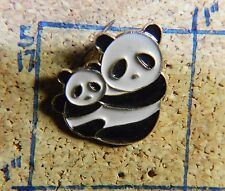 "TWO PANDAS MAMA & BABY FROM CHINA 3/4"" LAPEL PIN"