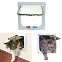 4 Way Large Pet Cat Puppy Dog Door Flap Locking Lockable Safety Gate L Size US