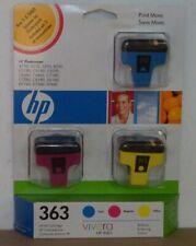 HP 363 Tinte cyan magenta y Photosmart D6160 D7160 D7260 D7360 D7460 C8180 C7280