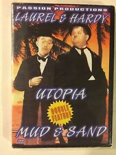 LAUREL AND HARDY DOUBLE FEATURE UTOPIA / MUD & SAND (DVD,) NEW