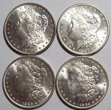 Lot of 4 Different Date MORGAN SILVER DOLLARS All Nice to Choice BUs  #16B58