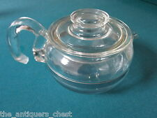 "Pyrex Teapot & Lid in Flameware 5 1/2 x 9"" spout to handle[a14]"