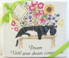 Set/2 Alice's Cottage Cotton Flour Sack Kitchen Tea Towel Cat Nap Dream - NEW
