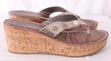 d6934806415fc8 Sam Edelman Romy Cork gold Wedge Platform Thong Flip Flops Sandals Womens  US 10M