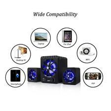 Multimedia Speaker System Computer Desktop Laptop Speaker 2.1 LED Subwoofer L7G9