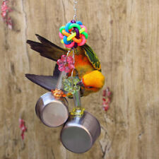 Stainless Steel Pot Toy Bird Cage Toy Parrot Toy For Lovebirds Cage Hanging Toy