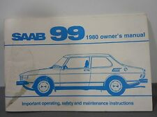 1980 SAAB 99 Owners Manual USA Ed. First Edition