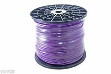 Purple 500ft foot roll reel spool 20 awg microphone cable XLR TRS shielded wire