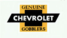 vtg Chevrolet water decal gobblers chevy hot rod drag race muscle car dark