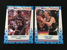 LARRY BIRD CELTICS & MAGIC JOHNSON LAKERS 1989 FLEER STICKERS BASKETBALL CARDS