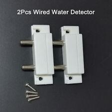 2x Water Level Sensor Alarm Water Leak Alert Overflow Wired Liquid Detector