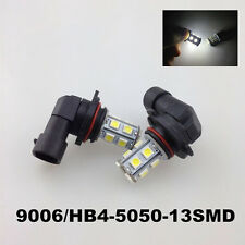2PCS High Power 9006 HB4 6000K Xenon White 5050 13-SMD LED FOG LIGHT DRL Bulbs