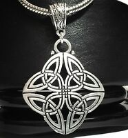 CELTIC KNOT_Pendant For Thick Chain or European Necklace_Irish Trinity Triquetra