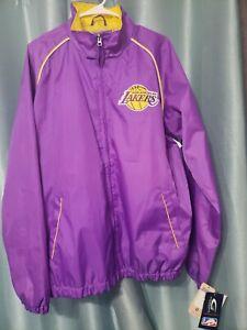 Los Angeles Lakers NBA Men's G-III Purple Full-Zip Windbreaker Size XL sewn.