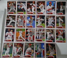 2012 Topps Series 1 & 2 Los Angeles Angels Team Set of 23 Baseball Cards