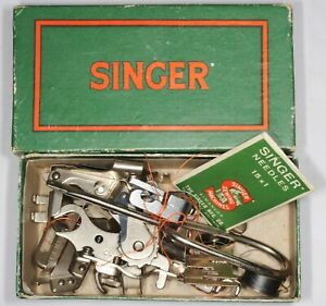 Singer Manufacturing Co sewing machine old box of parts accessories components