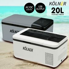 New Kolner 20L Portable Fridge Freezer Cooler 12/24/240V Camping Refrigerator