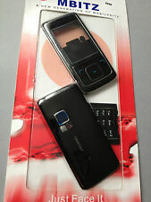 MOBILE PHONE FASCIA / HOUSING / COVER & BOTH KEYPADS FOR NOKIA 6288 - BLACK