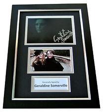 GERALDINE SOMERVILLE Signed A4 FRAMED Photo Autograph Display HARRY POTTER & COA