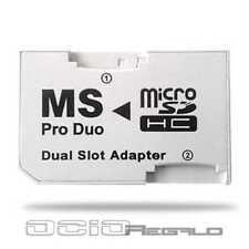 ADAPTADOR DUAL Micro SD/SDHC a MEMORY STICK PRO DUO PSP