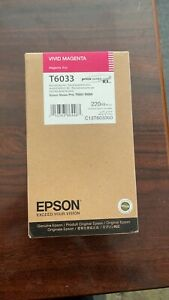 EPSON T6033 VIVID MAGENTA TONER STYLUS PRO 7800/9800/7880/9880 220ML OEM QTY 1