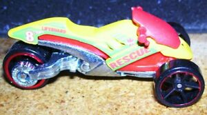 Hot wheels Diecast motorcycle 3 wheeler tricycle Lifeguard #8 Beach Rescue