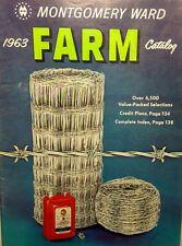 Montgomery Ward 1963 Farm Catalog FULL COLOR Garden Tractor 148pg Tool Tiller