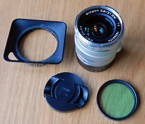 GORGEOUS CARL ZEISS 21mm f2.8 ZM BIOGON PRIME LENS LEICA M MOUNT+HOOD+ FILTER