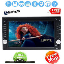"Backup Camera+6.2"" HD Double 2Din Car Stereo Radio DVD MP3 Player GPS Bluetooth"