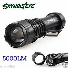 5000LM SKY Wolf EYE Q5 14500 3 Modes ZOOMABLE LED Flashlight Torch Super Bright