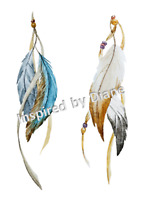 Furniture & Wall Sticker Decal Shabby Chic Vintage Feathers Image Stickers 655