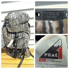 New Coleman Peak 1 External Frame Compact Backpack Hiking Lightweight Ram Camo!