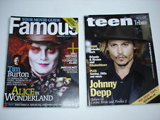 JOHNNY DEPP on cover magazine LOT of 2 TEEN TRIBUTE 2005 Famous 2010