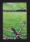 train fence playing card single swap JOKER - 1 card