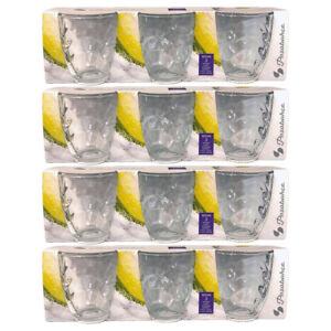 Wassergläser 12 Stück Wave Tumbler Wasserglas 280 ml Trinkgläser Gläser Set Glas