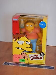 2002 PLAYMATES SIMPSONS FACES OF SPRINGFIELD BARNEY DELUXE FIGURE, SEALED, NOS