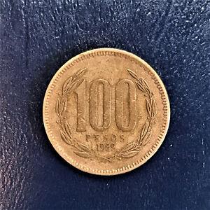 1989 Republica de Chile 100 One Hundred Cien Pesos